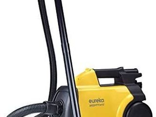 Eureka Mighty Mite 3670G Corded Canister Vacuum Cleaner  Yellow  Pet  3670g yellow   MISSING HOSE AND SOME ATTACHMENS