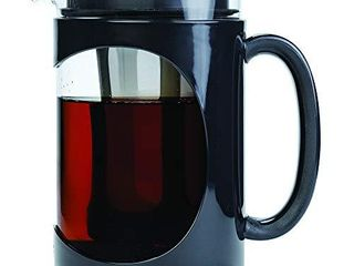 Primula Burke Deluxe Cold Brew Iced Coffee Maker  Comfort Grip Handle  Durable Glass Carafe  Removable Mesh Filter  Perfect 6 Cup Size  Dishwasher Safe  1 6 Qt  Black