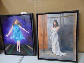 2 Sharon Engle original paintings