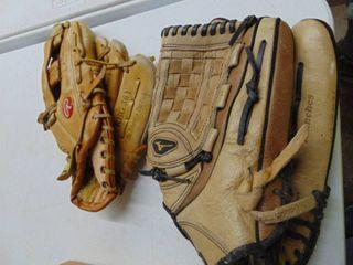 Mizuno and rawlings gloves