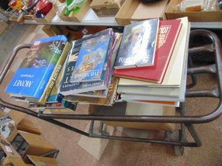 Cart Full of Books  Mostly Art Books   Cart Not included