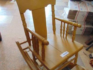 Yellow Convertible High Chair Rocker