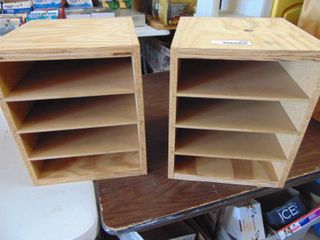 Wood Display Case lot of 2