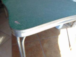 Vintage Aluminum Rim Dining Table