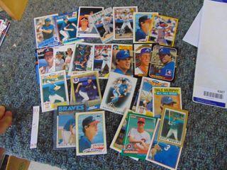Dale Murphy Baseball card lot of 30