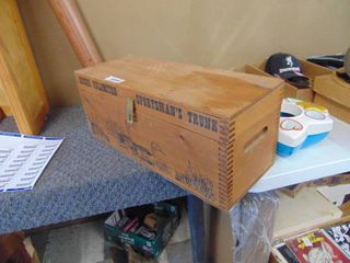 Wooden Ducks Unlimited Crate with contents