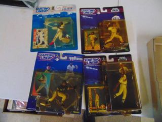 Four Starting line Up Figurines