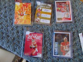 Patrick Mahomes Football card lot of 5