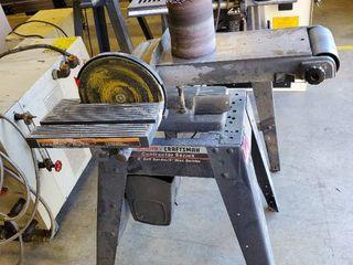 Craftsman 6in Belt Sander 9in Disc Sander On Stand