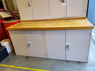 6ft Maple Top Work Cabinet