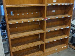 6 x 6  Wooden Bookshelf