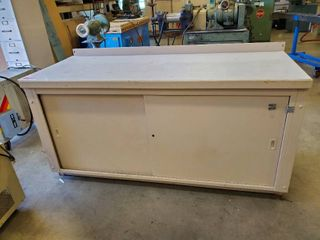 6ft Metal Work Table With Storage