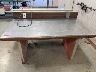 Stainless Top Work Bench With Built In Power