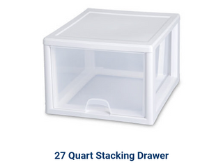 Set of 2   27 Quart Modular Stacking Storage Drawer Box Containers