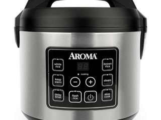 Aroma 20 Cup  Cooked  Digital Rice Cooker and Food Steamer ARC 150SB
