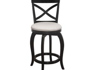 Hillsdale Furniture Ellendale Swivel Counter Height Stool in Black