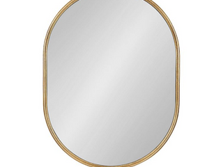 Kate   laurela Caskill 18 Inch x 24 Inch Oval Wall Mirror in Gold