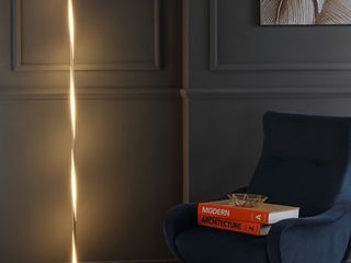 63 75  Pilar lED Integrated Floor lamp Gold  Includes Energy Efficient light Bulb    JONATHAN Y