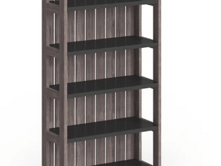Furniture of America Pend Transitional Grey 5 shelf Slatted Bookcase   367 99