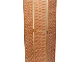 Household Essentials Basket Weave Bamboo Screen