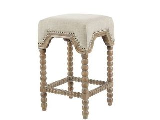 Madison Park Davisina Silver Wood Counter Stool ONlY 1