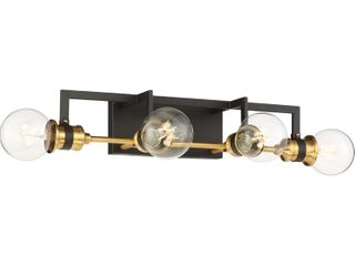 Nuvo lighting 60 6974 Intention Wall Sconce In Warm Brass   Black 21 1 2a width
