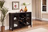 kings brand furniture wood wine rack console sideboard table with storage  espresso
