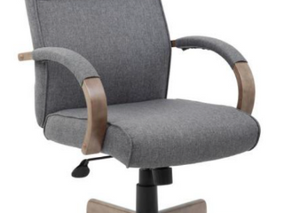 As Is   Big and Tall Gray Fabric Executive Chair