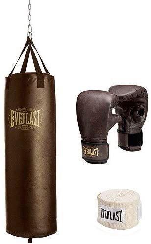Everlast 100 lb Vintage Heavy Bag Kit w Gloves