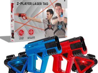 SHARPER IMAGE Two Player Toy laser Tag Gun Blaster   Vest Armor Set for Kids