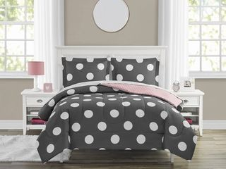 Your Zone large Dot Bed in a Bag Bedding Set  Multiple Sizes