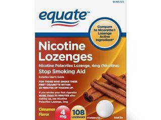 Equate Nicotine lozenges  Cinnamon Flavor  4 mg  108 count