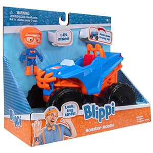 Blippi Monster Truck Mobile   Mini Vehicle With Freewheeling Features Includi