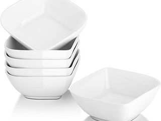 Better Homes   Gardens Porcelain Square Bowls  White  Set of 6