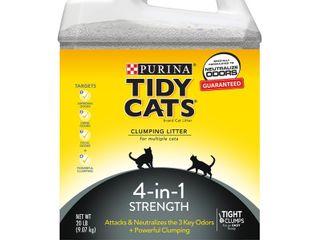 Purina Tidy Cats Clumping Cat litter  4 in 1 Strength Multi Cat litter  20 lb  Jug