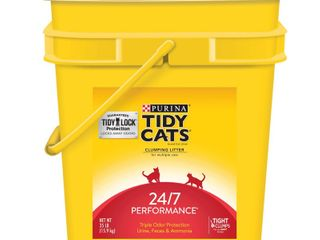 Purina Tidy Cats Clumping Cat litter   24 7 Performance for Multiple Cats 35 lb  Pail 560 00 oz