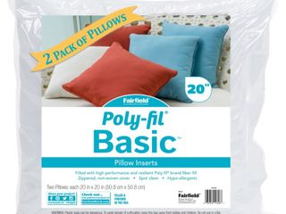 Poly Fil Basics 20  x 20  Pillow Insert  Pack of 2