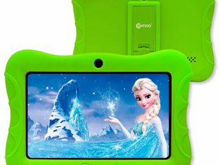 CONTIXO 7 in  Kids Tablet 2GB RAM 32GB Android 10 Wi Fi Bluetooth Camera Parental Control w Kid Proof Protective Case in Green
