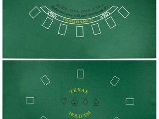 Brybelly Blackjack   Texas Hold  Em Casino Gaming Table Felt layout  36  x 72