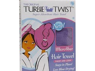 Turbie Twist Super Absorbent Hair Towel Microfiber Twist   loop  Colors May Vary