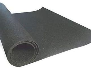 Technoflex TechnoFloor Black 48 in  x 72 in  Rubber All Purpose Mat
