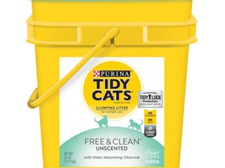 Tidy Cats Free   Clean Unscented Cat litter   35lb
