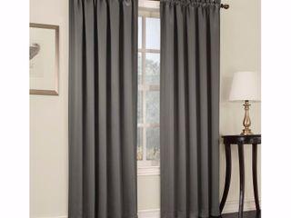 18 x54  Seymour Energy Efficient Rod Pocket Curtain Valance Steel   Sun Zero