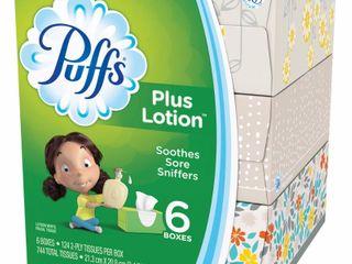 6pack Tissue Puffs Plus lotion Facial Tissue   6pk