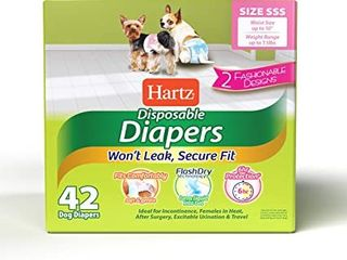 Disposable Dog Diapers With Flashdry Gel Technology   Sss 42 Count