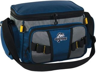 Okeechobee Fats Small Soft Sided Tackle Bag with 2 Medium Utility lure Box Storage Containers  Blue