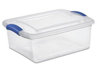 7 pack with lids Sterilite 15 Quart latch Box