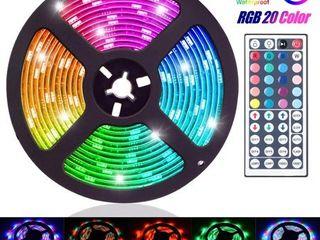 lED strip kit Brand NEW 16 4ft 5M 300lED RGB 20 Muliticolor Changing Flexible lED Rope lights TV Backlight Tape Strip light Kit Waterproof w  44Key IR Remote Control  8 brightness level  Memory function  12V Power Supply