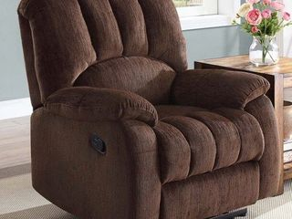Mainstays Recliner with Pocketed Comfort Coils  Brown Fabric