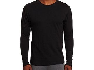 Duofold Men s Thermal Mid Weight Wicking Crew Neck Top  Black  large